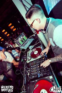 Local DJ KiKi Champ at Oak Lounge Milwaukee for Project Ink