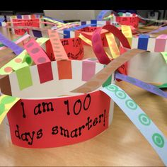 100th day of school hat!!