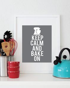 11x14 Keep Calm and Bake On print Custom Colors by LivyLoveDesigns, $24.00
