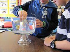 Liquid, Solid, and Gases experiment.