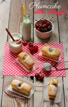 La ricetta della felicità: Plumcake alla ciliegia e yogurt, senza burro, quasi light ....e l'annosa questione delle ciliegie (o ciliege?)