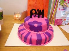 Cake for my mom, my first marshmallow fondant cake, flowers, zebra