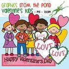 Valentine's Day Kids  Clipart Graphics