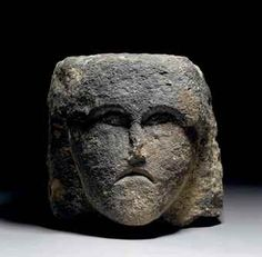 A CELTIC STONE HEAD, this stone head sold in a recent auction at Christies for £9, 375, I think its priceless.