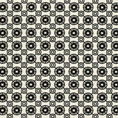 """Black Circles Emblems on Off White Ponte de Roma Knit Fabric - Repeating circles and emblems design in black on a off white Ponte De Roma knit.  Ponte de Roma fabric is a thicker medium weight and has a nice stretch, excellent drape, and great recovery.   Fabric has a subtle horizontal texture.  Emblems measure 5/8"""" (see image for scale).  Amazing designer fabric great for maxi skirts, dresses, tops, and more!  ::  $7.50"""