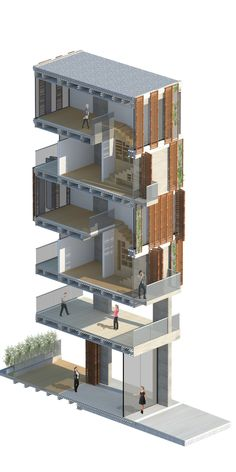 Architecture Graphics, Architecture Drawings, Facade Architecture, Facade Design, House Design, Atelier Design, Building Section, Architectural Section, 3d Home