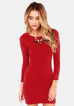Nice Red knit dress 2018-2019 Check more at http://myclothestrend.com/dresses-review/red-knit-dress-2018-2019/