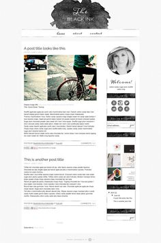 I adore how structured that sidebar is, love the sketchy lines.  Do like the banner.  Blogger Template Premade Blog Design by mlekoshiPlayground