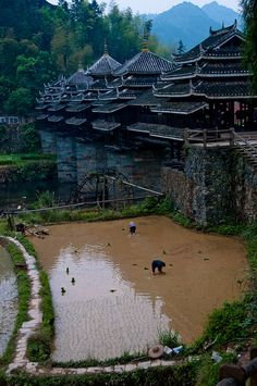 Sanjiang, China #OrientArt #China #Japan #OrientalArt #OrientCustom