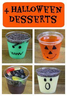 Simple Halloween Party Ideas : 4 Halloween Dessert Cups