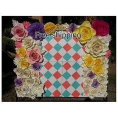 Check out this item in my Etsy shop https://www.etsy.com/listing/492296107/giant-paper-flowers-backdrop-for