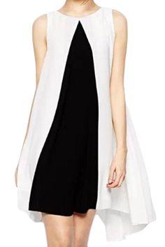ROMWE | ROMWE Color Block Pleated Asymmetric Dress, The Latest Street Fashion