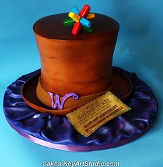 Cake Wrecks and Willy Wonka! Crazy Cakes, Fancy Cakes, Cute Cakes, Pink Cakes, Willy Wonka, Charlie And The Chocolate Factory Party, Beautiful Cakes, Amazing Cakes, Hat Cake