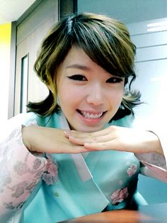 Secret Hyosung in Korean Traditional Clothing 'Hanbok'