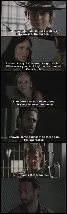 The Walking Dead - Badass Carl? by ~SpiritRising7 on deviantART