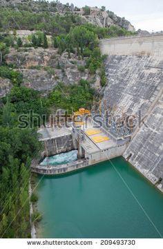 Hydroelectric Dam of Sacedon, La Alcarria, Guadalajara, Spain