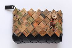 Candy Wrapper Bag, handmade clutch bag, vintage bag, coin purse