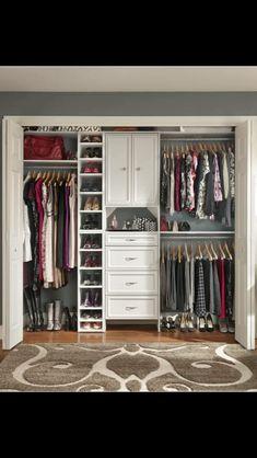 Closet Organization Tips For Small Closet : Amazing Ideas to Organize Closet Tips. Closet Organization Tips For Small Closet. Ikea Closet Organizer, Small Closet Organization, Closet Storage, Organization Ideas, Bedroom Organization, Storage Ideas, Wardrobe Organisation, Closet Drawers, Wardrobe Ideas