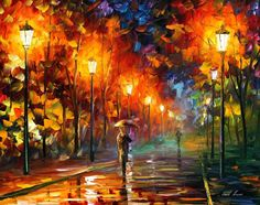 """LATE DATE — PALETTE KNIFE Oil Painting On Canvas By Leonid Afremov - Size 30""""x24"""" (CLONE)"""