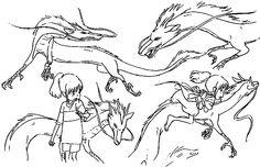 Film: Spirited Away (千と千尋の神隠し) ===== Character Design - Model Sheets: Chihiro (Sen) & Haku ===== Hayao Miyazaki
