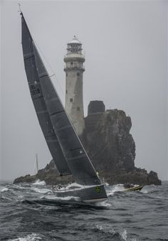 Sail and lighthouse