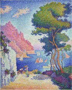 -Capo di Noli, 1898 - Paul Signac (Pointillism)  I love his technique.