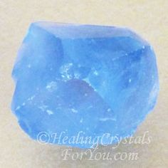 Celestite Crystal Point. This crystal has a gentle uplifting vibration, and a strong stimulating effect on spiritual and psychic gifts.