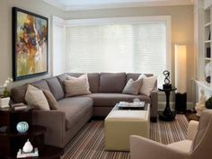 You will find small living room ideas in these photos. We share with you, small living room design, small living room decorating ideas in this photo gallery. Small Living Room Design, Living Room On A Budget, Family Room Design, New Living Room, Small Living Rooms, Living Room Designs, Modern Living, Small Living Room Sectional, Small Living Room Ideas With Tv