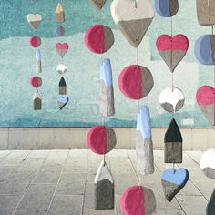 Giant Paper Pulp Beads by Marion Westerman, via Behance