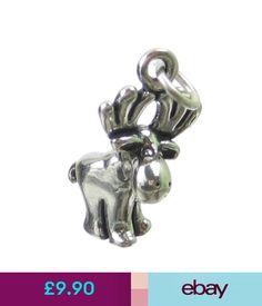 Fine Charms & Charm Bracelets Moose Sterling Silver Charm .925 X 1 Elk Elks Animal Charms Sslp1847 #ebay #Fashion