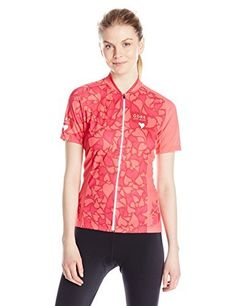 GORE BIKE WEAR Women's or Cycling Jersey Short Sleeve with Zip Fastening Element Love Camo SLPREL Jersey multi-coloured Jazzy Pink/coral Red Size:FR : L (Taille Fabricant : 40) by Gore. GORE BIKE WEAR Women's or Cycling Jersey Short Sleeve with Zip Fastening Element Love Camo SLPREL Jersey multi-coloured Jazzy Pink/coral Red Size:FR : L (Taille Fabricant : 40). FR : L (Taille Fabricant : 40). multi-coloured - Jazzy Pink/coral Red.
