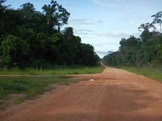 De weg van de Kurupukari crossing naar Lethem #Guyana