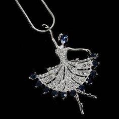 Sterling Silver Anti-Tarnish Treated Pink Enamel Ballet Slipper Necklace