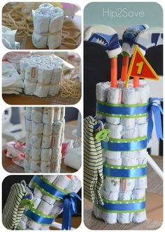 Diaper Cake Ideas That You Can Try Out : Golf Bag Diaper Cake Instructions. diaper cake decoration,diaper cake for baby shower Baby Shower Gift Bags, Baby Shower Gifts For Boys, Baby Shower Diapers, Baby Shower Fun, Baby Gifts, Fun Baby, Diaper Shower, Shower Party, Diaper Cakes Tutorial