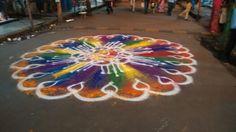 Manacharaja Mumbai bhyander West agaman rangoli