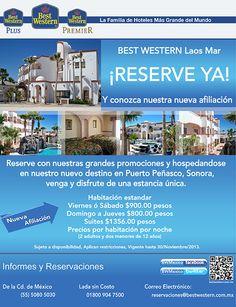 Tarifa en Puerto Peñasco, Sonora: Domingo a jueves: $800.00 pesos ¡Ven y conoce nuestra nueva afiliación!