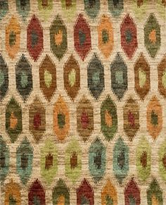Xavier Hand-Knotted Area Rug in Multi - Hand knotted with 100% jute from India, Xavier's large scale Ikat design offers sophistication that works as an incredible centerpiece for a variety of room settings. Amish Crafts, Southwest Rugs, Clearance Rugs, Jute Rug, Cow Hide Rug, Grey And Gold, Western Decor, Hand Knotted Rugs