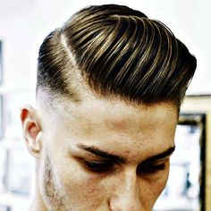 Comb Over with Hard Part