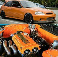 You must see the HP on this. Check it out here! Honda Vtec, Honda Civic Coupe, Honda Civic Hatchback, Honda Civic Si, Tuner Cars, Jdm Cars, Ek Hatch, Civic Jdm, Import Cars
