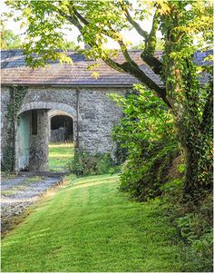 entrance to a yard at Milltown Park, Co. Entrance, Architecture Design, Ireland, Yard, Exterior, Mansions, Landscape, Country, House Styles