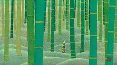 SEIJAKU by IDO Masao woodblock