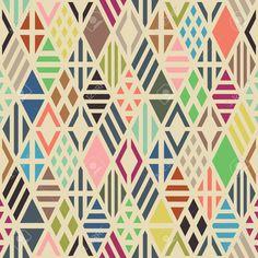 ひし形でシームレスなパターン。幾何学的な背景。 ロイヤリティフリークリップアート、ベクター、ストックイラストレーション。. Image 39970424.