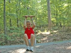 Backyard Zip Line — DIY - this one is strong enough for big kid fun, but works for kids to ;)