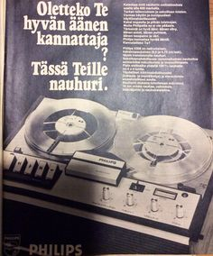 1971 Apu. Näitä kelanauhureita oli käytössä kieltenopetuksen tunneilla vielä 1980 - luvulla ainakin peruskouluissa Suomessa.
