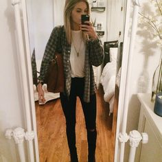 """haven't posted a mirror selfie in the longest time?!? so i apologize for the eh quality but here was todays cozy outfit  items tagged"""