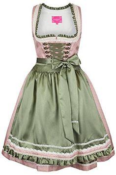 Damen-Krger-Madl-Krger-Dirndl-kurz-rosa-grn-rosa-0