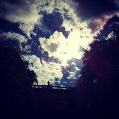 clouds in light.