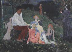 Jan Preisler (Czech, 1872 - 1918)  Temptation (Pokušení), 1906/1907 Fine Art, Applied Arts, Mucha, Painting, Art, Pictures, Alfons Mucha, Paul Gauguin, Symbolist