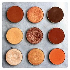 Beautiful shades for creating terracotta eyes