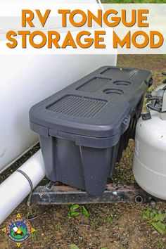 Do you need more outside storage on your RV? Try this Trailer Tongue Storage Mod. It's perfect for storing items you don't want in the trailer.